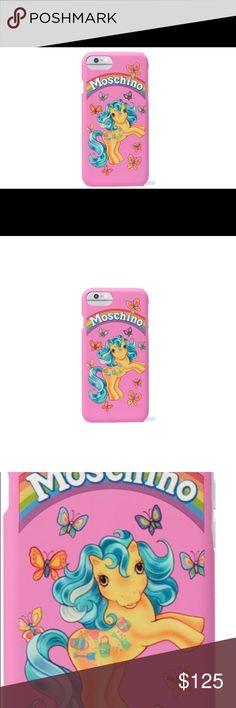 Moschino My Little Pony iPhone 📱 7 case New multicolored Coated acrylic cellphone case. Moschino Accessories Phone Cases