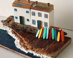 Surfboard Surf Cornwall surf Driftwood houses Driftwood