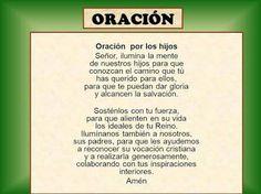 Oracion por los Hijos In A Heartbeat, Religion, Prayers, Faith, Personalized Items, Strength, Life, Prayer, Beans
