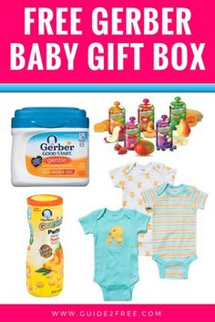 Get a FREE Gerber Baby Gift Box full of free products like baby formula, onsies, a bib, and more. They send it around your due date so watch for your free baby samples in the mail around that time! Baby Gift Box, Baby Shower Gift Basket, Baby Box, New Baby Gifts, Baby Shower Gifts, Free Baby Items, Free Baby Stuff, Gerber Baby, Free Baby Samples