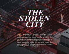 The Stolen City (Design Graphic Design Illustration, Working On Myself, New Work, Behance, Architecture, City, Gallery, Check, Dinghy