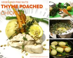 thyme poached chicken