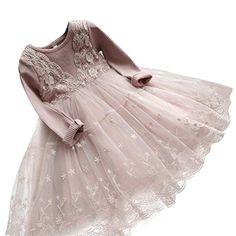b12735683800 Elegant Lace Girls Dress Princess Girl Dresses 2017 New Design Child Dress  High Quality Kids Costumes Party Vestido Long Sleeves