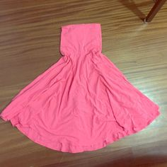 J crew dress/skirt This can be worn as a skirt with a yoga waistband or a dress(fitting on top, flows on the bottom) more of a coral pink color J. Crew Dresses Mini