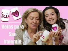 Velas decoradas para San Valentín o el día de la madre - YouTube