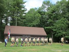 Camp Sandy Beach Staff at the ‪#‎Yawgoog Sunday Dress Parade! Image captured on August 23, 2015, by David R. Brierley.