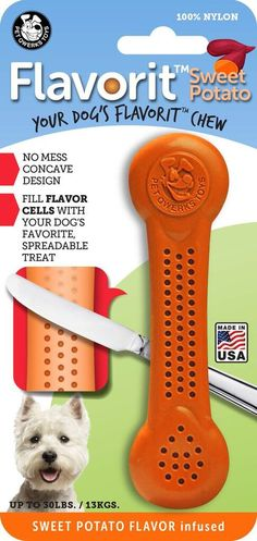 Flavorit Nylon Bone Chew Toy - Peanut Butter Flavor, click or dial for dog toys, bones and supplies made in the USA that donate to help feed shelter dogs in the USA. Dog Chew Bones, Human Teeth, Interactive Dog Toys, Sweet Potatoes For Dogs, Dog Chews, Large Animals, Find Pets, Dog Treats, Animal Shelter