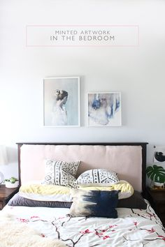 Need artwork for the bedroom to create an impact? See how I chose two different pieces that work perfectly together to create a soothing environment.