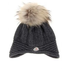 23912384b95 This is what I need right now..knit hat with fur pom pom by