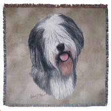 Pure Country Old English Sheep Pet Blanket Canine on Beige Background 54 by *** You can get additional details at the image link. Portrait Art, Pet Portraits, Bearded Collie, Old English Sheepdog, Beige Background, Pet Gifts, Dog Design, Dog Bed, Animals And Pets