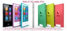 """Win the """"re-nanoed"""" 16GB iPod Nano!  Simply repin this image from the StackSocial Pinterest page, follow at least one of our boards, and leave a comment with your color preference.  One lucky winner will be selected January 25, 2013.  Thanks & good luck!!!"""