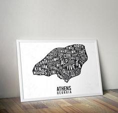 Athens Georgia Typog