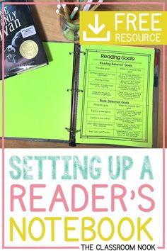 Help your students keep all of their reader's workshop materials organized in one place. Learn how to set up the perfect reader's notebook with this video tutorial to get you started! Perfect for third grade, fourth grade, or fifth grade! #readersworkshop #upperelementary #thirdgrade #fourthgrade #fifthgrade