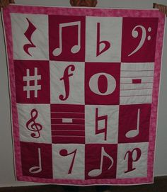 Music Baby Quilt - via @Craftsy