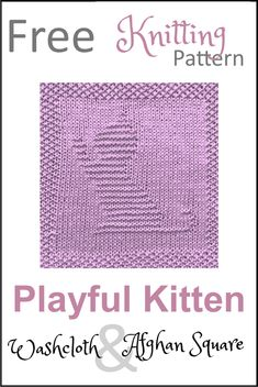 Free Kitten Dishcloth or Afghan Square Knitting Pattern - Daisy and Storm Best Picture For Knitting Techniques hooks For Your Taste You are looking for something, and it is going to tell you exactly w Baby Knitting Patterns, Knitted Dishcloth Patterns Free, Teddy Bear Patterns Free, Knitted Washcloths, Knit Dishcloth, Knitted Blankets, Free Knitting, Weaving Patterns, Double Knitting