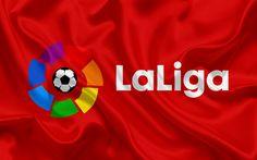 Lataa kuva La Liga, 2017, Espanja, Liigan logo, tunnus, jalkapallo, jalkapallon em-kisat