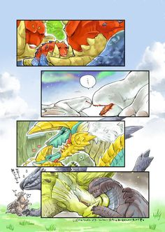 ちぃ吉 (@Shido_ya02) さんの漫画 | 124作目 | ツイコミ(仮) Monster Hunter Memes, Monster Hunter World, Fantasy Creatures, Mythical Creatures, Manga Art, Anime Art, Cute Lizard, Cry Anime, Dnd Monsters