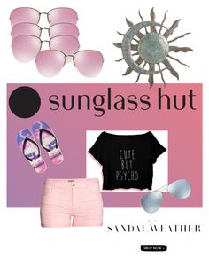 """Shades of You: Sunglass Hut Contest Entry"" by kayearnold on Polyvore featuring Miu Miu, H&M, Aéropostale, Ray-Ban and shadesofyou"