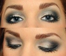 blue, eyes, make up, makeup, nice (Full Size)