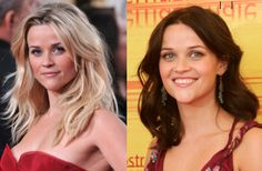 Blonde to Brunette Reese Witherspoon - she's definitely a blonde Blonde Vs Brunette, Reese Witherspoon Hair, Going Blonde, Hair Shades, Light Blonde, Fair Skin, Celebrity Hairstyles, Hair Highlights, Hair Dos