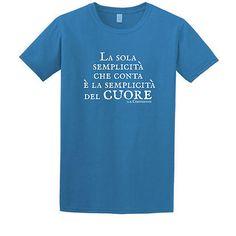 """Stampa T-Shirt Bambino #chesterton #frassati #distributismo """"La sola semplicità che conta è la semplicità del cuore"""" cit. GKC"""