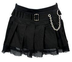 Vintage Tripp NYC Black Pleated Fishnet Mini Skirt Small