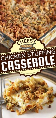 The Cheesy Chicken Stuffing Casserole is a hearty comfort food recipe that starts with tender, juicy chicken breast topped with cheese and stuffing. This delicious recipe for dinner is one of the best chicken ideas to try! Thanksgiving Dinner Recipes, Easy Dinner Recipes, Easy Weeknight Meals, Easy Meals, Chicken Stuffing Casserole, Kidney Friendly Foods, Best Casseroles, Chicken Recipes, Chicken Ideas