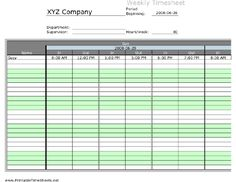 Community Service Timesheet Printable Time Sheets, free to ...