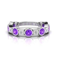 Silver Amethyst and Diamond Ring. Amethyst And Diamond Ring, Night Out, Coding, Rings, Silver, Fun, Ring, Jewelry Rings, Programming