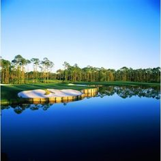 Golf course at the lakeside Regatta Bay Golf Course and Country Club Destin Okaloosa County Florida USA Canvas Art - Panoramic Images (24 x 24)