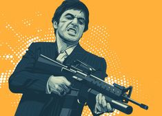 Scarface detailed, premium quality, magnet mounted prints on metal designed by talented artists. Poster Art, Poster Prints, Scarface Poster, Boondocks Drawings, Portrait Vector, Gangster Tattoos, Mexico Art, Minimal Poster, The Expendables
