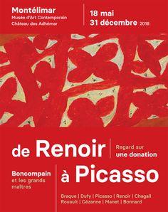 """Exposition """"Boncompain et les grands maîtres, de Renoir à Picasso"""" du 19 mai au 31 décembre 2018 au château des Adhémar et au MAC Saint-Martin"""