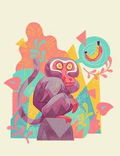 The art of animation line illustration, digital illustration, cartoon illus Illustration Singe, Illustration Mignonne, Illustration Vector, Character Illustration, Vector Art, Graphic Design Illustration, Posca Art, Arte Sketchbook, Grafik Design