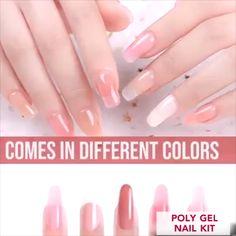 Nails Discover PolyGel Nail Kit nail art design gallerynail designs for short nails 2019 nail stickers walmart nail appliques best nail polish strips 2019 Diy Acrylic Nails, Summer Acrylic Nails, Acrylic Nail Designs, Nail Art Designs, Polygel Nails, Coffin Nails, Gel Nail Kit, Uv Gel, Yellow Nail Art
