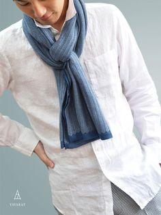 ストール メンズ 日本製 綿100% リプルストール ヘリンボーン TAVARAT TAV-014 :TAV-014:TAVARAT・タバラット - 通販 - Yahoo!ショッピング