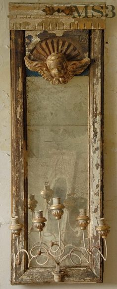 vintage mirrors.. the loveliest layer indeed!