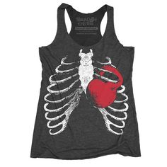 Women's Gym Workout Tank top Ribcage by BlackCoffeeAndTees on Etsy