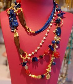 Beaded  Pearl  Necklace Lariat by mislady on Etsy, $60.00