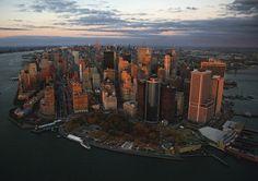 YannArthusBertrand - Vue générale sur le Financial District, Manhattan, New York, Etats-Unis.
