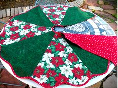 Christmas Tree Skirt - like the style, have fabric very different I want to use - sewing is about creativity!