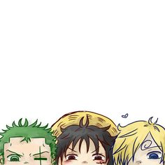 Roronoa Zoro, Monkey D. Luffy and Sanji