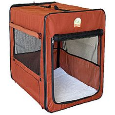 @Overstock - Provide your pet shelter anywhere you go with this portable nylon kennel. The waterproof and adjustable ventilation design makes this kennel perfect for indoor or outdoor use.http://www.overstock.com/Pet-Supplies/GoPetClub-26-inch-Folding-Soft-Dog-Crate/5118897/product.html?CID=214117 $42.05