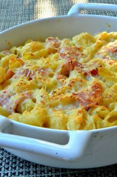 Nuestra receta de pasta gratinada con jamón