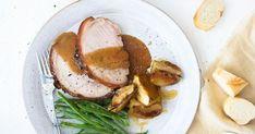 A different roast for the slow cooker. Pork Recipes, Slow Cooker Recipes, Cooking Recipes, Slow Cooking, Savoury Recipes, Pork Leg Roast, Pork Loin, Ginger Pork, Slow Cooker Roast