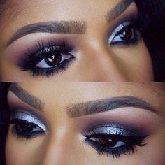 Silver Eye Makeup - #eyeshadow #eyemakeup #eyes #silvershadow #makeup - bellashoot.com