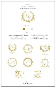 Custom Crest Monogram Wedding logo Wedding by cwdesigns2010