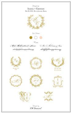 Custom Crest Monogram Wedding logo Wedding by cwdesigns2010
