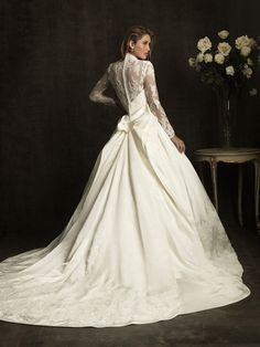 lace ball gown wedding dress with sleeves- timeless. 959169b2b5d0