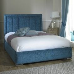 Catrina Chenille Fabric Upholstered Bed Frame