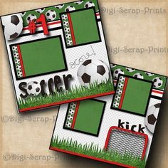 SOCCER ~ 2 premade scrapbook pages paper piecing BOY GIRL LAYOUT ~ BY DIGISCRAP   Crafts, Scrapbooking & Paper Crafts, Pre-Made Pages & Pieces   eBay! #scrapbookcrafts